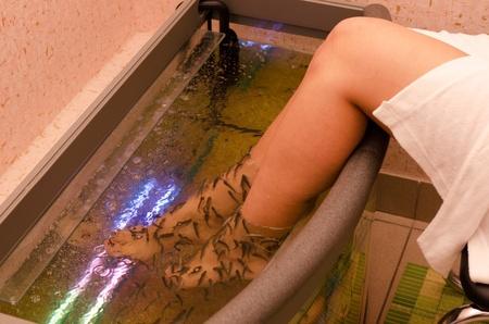 female nipple: Pesce spa trattamento wellness pedicure cura della pelle