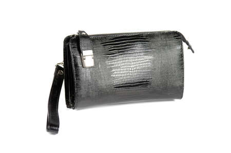 black male bag isolated on white background photo