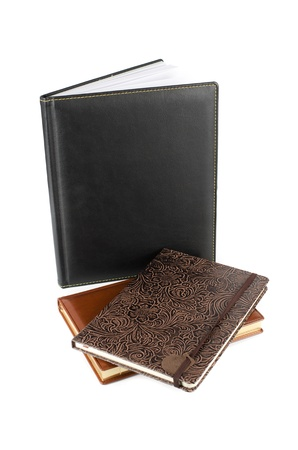 set of business book isolated over white background photo