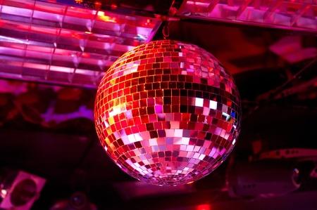 Disco ball light reflection background Standard-Bild