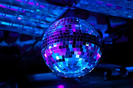 Disco ball light reflection background Banque d'images