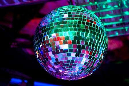 discoball: Disco ball light reflection background Stock Photo