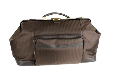 travel bag on a white background photo