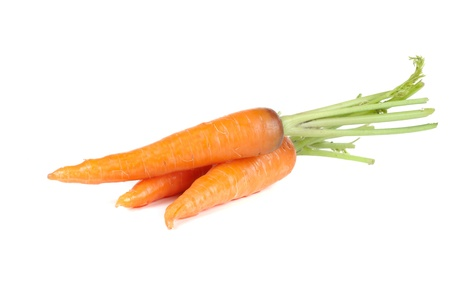 Ripe carrots isolated on a white background Stock Photo - 13748066