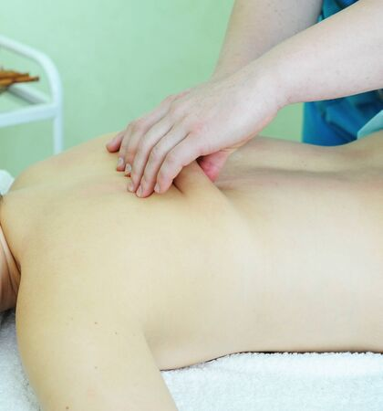 Closeup photo of massage of female back Stock Photo - 13930619