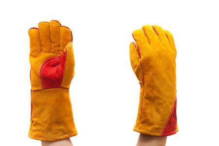 work gloves on white background photo