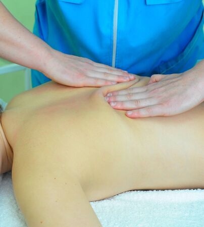 Closeup photo of massage of female back Stock Photo - 14330756