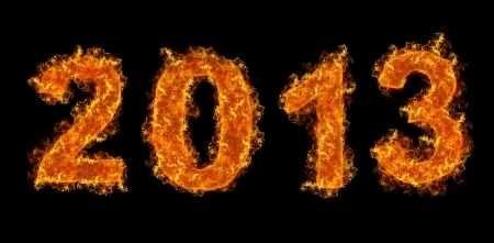 Fire of 2013 on black background Stock Photo - 14711271