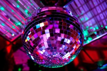Boule disco fond réflexion de la lumière Banque d'images - 15295611