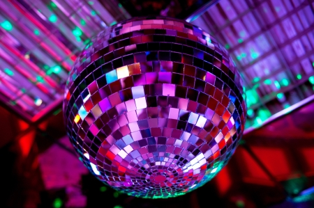 Disco ball light reflection background photo