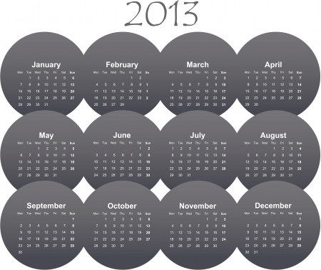 illustration of postcard calendar to a new 2012 year Stock Vector - 16803799