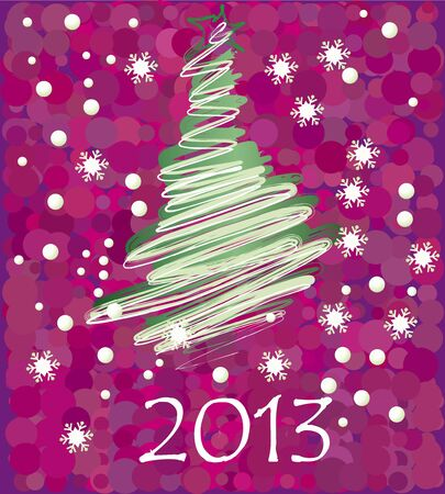 illustration of postcard calendar to a new 2012 year Stock Vector - 16803809
