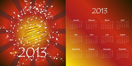illustration of postcard calendar to a new 2012 year Stock Vector - 16905111