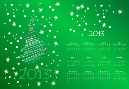 illustration of postcard calendar to a new 2012 year Vector