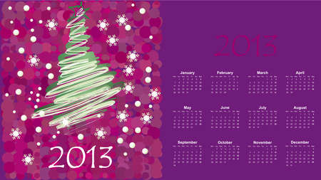 illustration of postcard calendar to a new 2012 year Stock Vector - 17011901