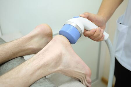 Heel procedure with special equipment photo
