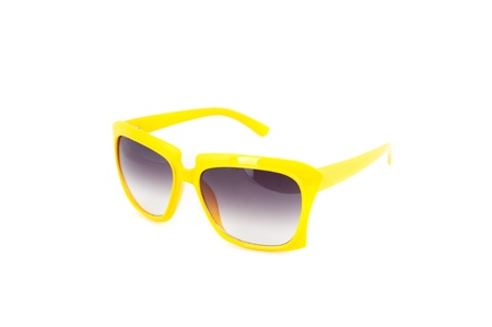 yellow sunglasses  isolated on a white background photo