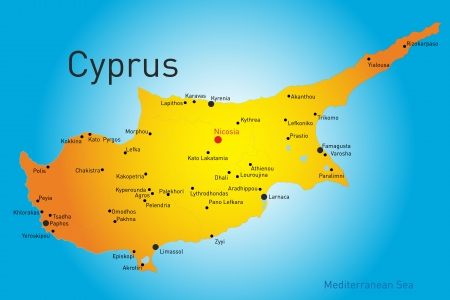 vector map of Cyprus country Vector
