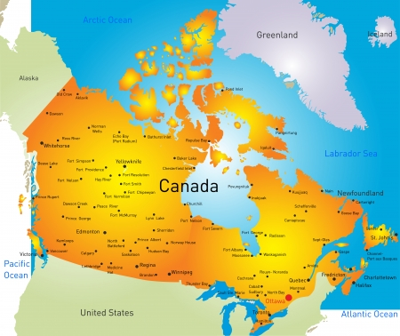 edmonton: vector map of Canada country