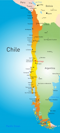 vector map of Chile country Vector