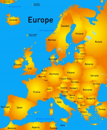 Detailed europe vector map Imagens - 23547027