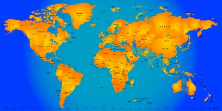 world timezone map vector illustration Reklamní fotografie - 23547034