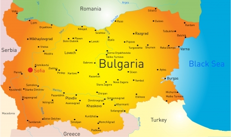 vector color map of Bulgaria country Vector