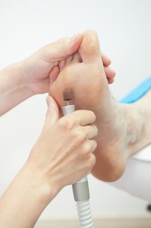 female foot pedicure in a beauty salon