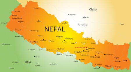 map of Nepal country