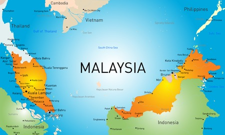Vector map of Malaysia country Vector