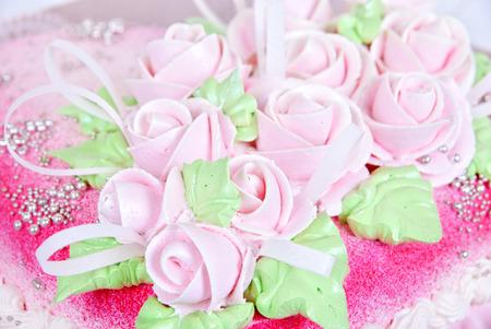 rose shaped cake close up photo