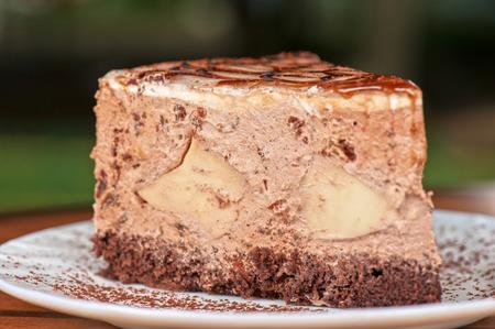 tasty piece of cake closeup photo