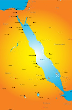 nile river: color map of Red Sea region