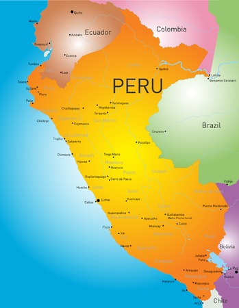 ancash: color map of Peru country