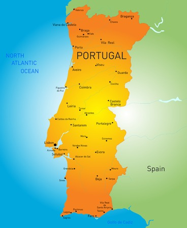 color map of Portugal country Vector