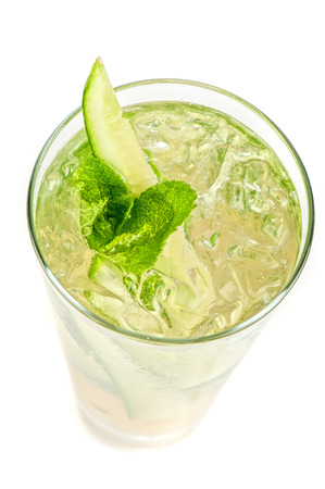 Fresh cocktail with cucumber photo