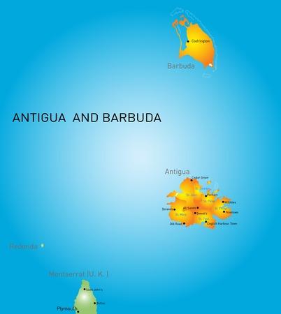antigua: Vector color map of Antigua and Barbuda
