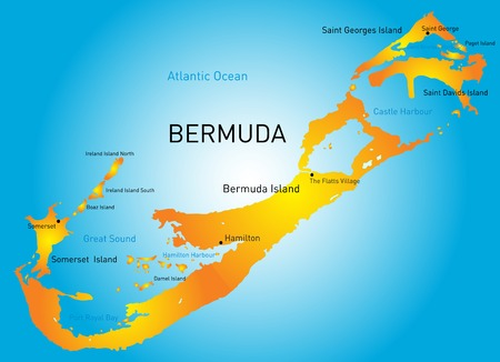 Map Of Bermuda Stock Photos Pictures Royalty Free Map Of - Map of us and bermuda