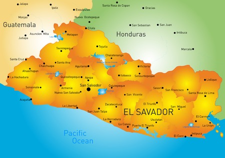 el salvador: Vector color map of El Salvador country Illustration