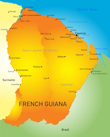 mana: Vector color map of French Guiana country