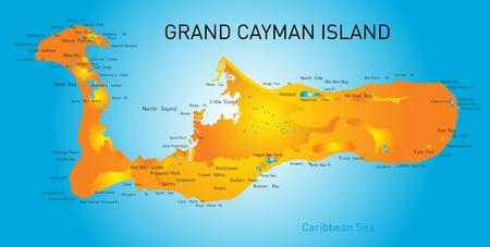 cayman islands: Grand Cayman islands vector map  Illustration