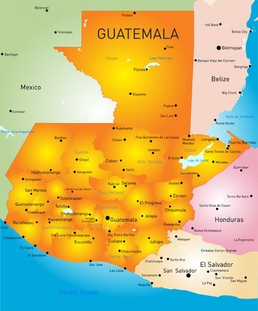 Guatemala country vector color map  Vector