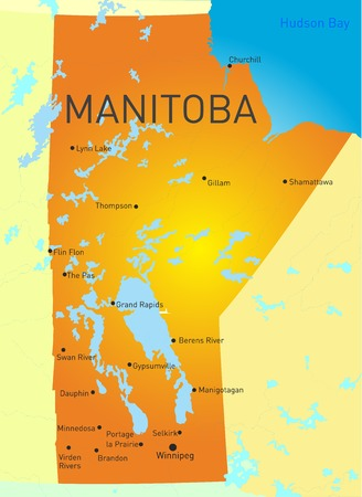 Manitoba province color map