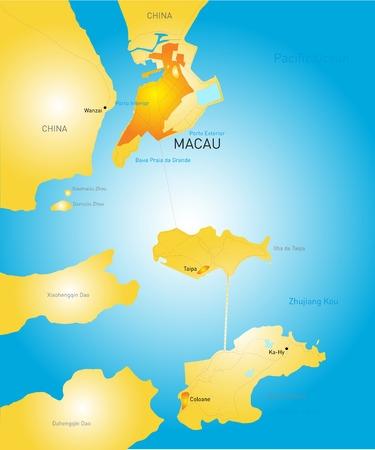 cantonese: color Macau administrative map