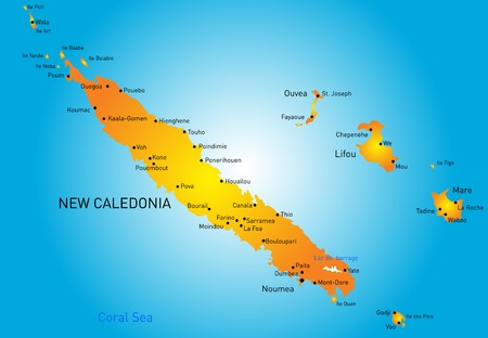 Vector color map of New Caledonia Vector