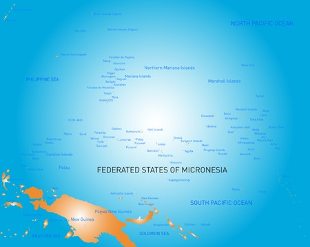 micronesia: Vector color map of micronesia island