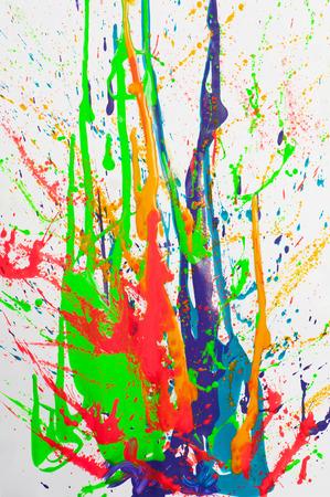 paint splash on white background photo