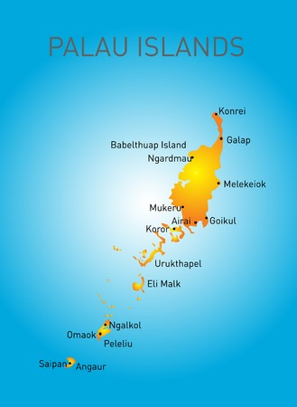 boarders: Vector color map of Palau