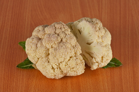 fresh cauliflower on the table, healthy food photo