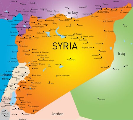 Vector color map of Syria Vector